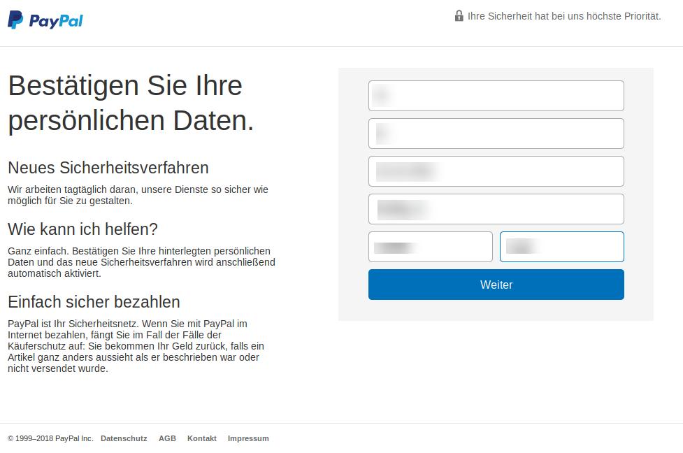 Paypal überprüfung