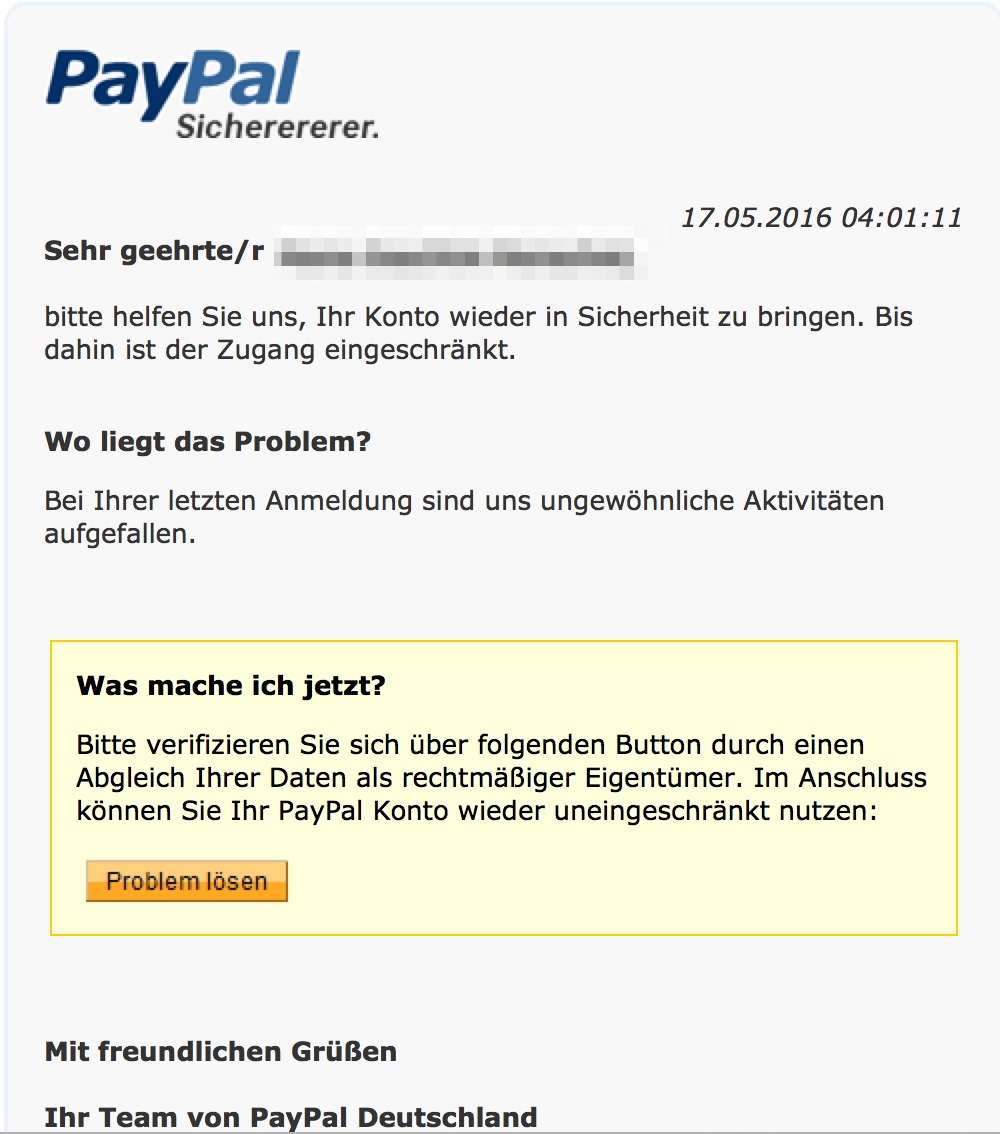 Paypal Daten Verifizieren