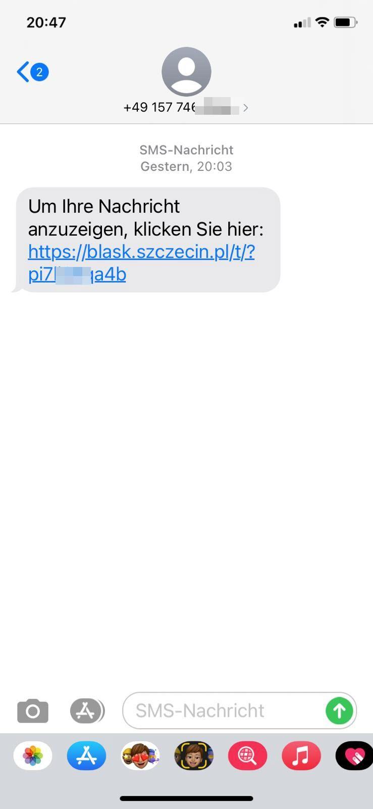 SMS mit Paketbenachrichtigungslink verursacht massenhafte SMS ...